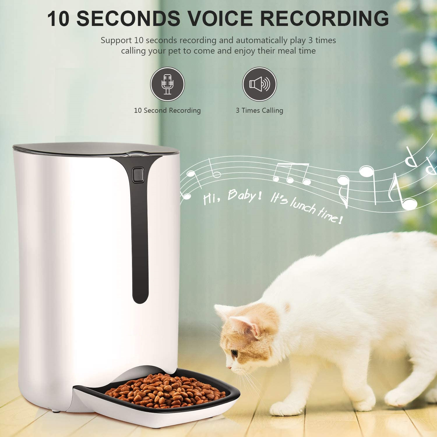 New Automatic 7l Pet Feeder Food Dispenser Dogs Cats 521a86 Uncle Wiener S Wholesale