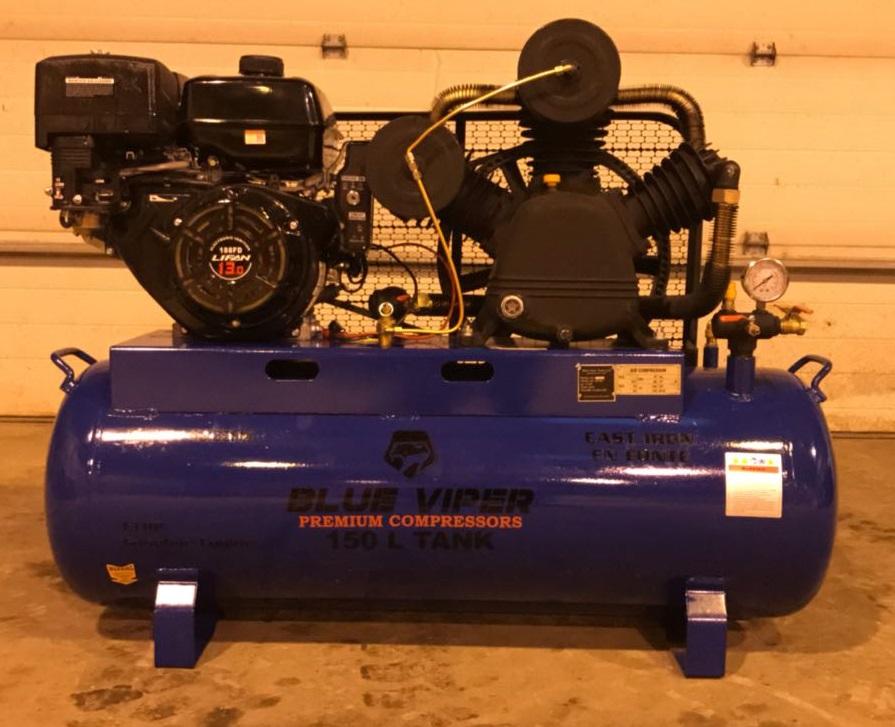 150 L 13 Hp E Start Mobile Air Compressor Gas Portable
