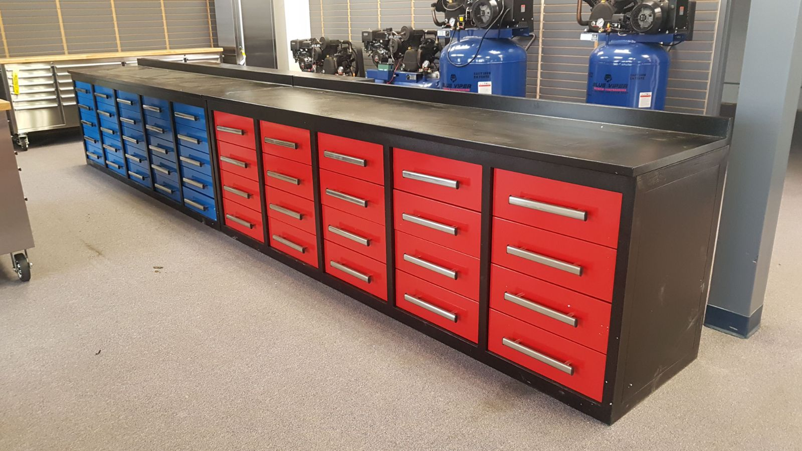 New Heavy Duty 10 Ft Tool Bench With Roller Bearing Slides