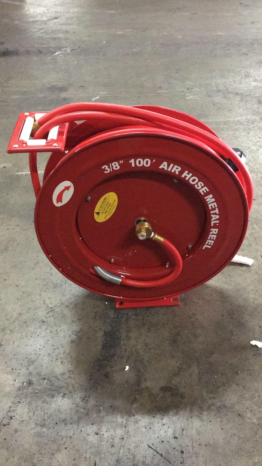 New 3 8 100 Ft Metal Air Hose Retractable Air Reel Arh02