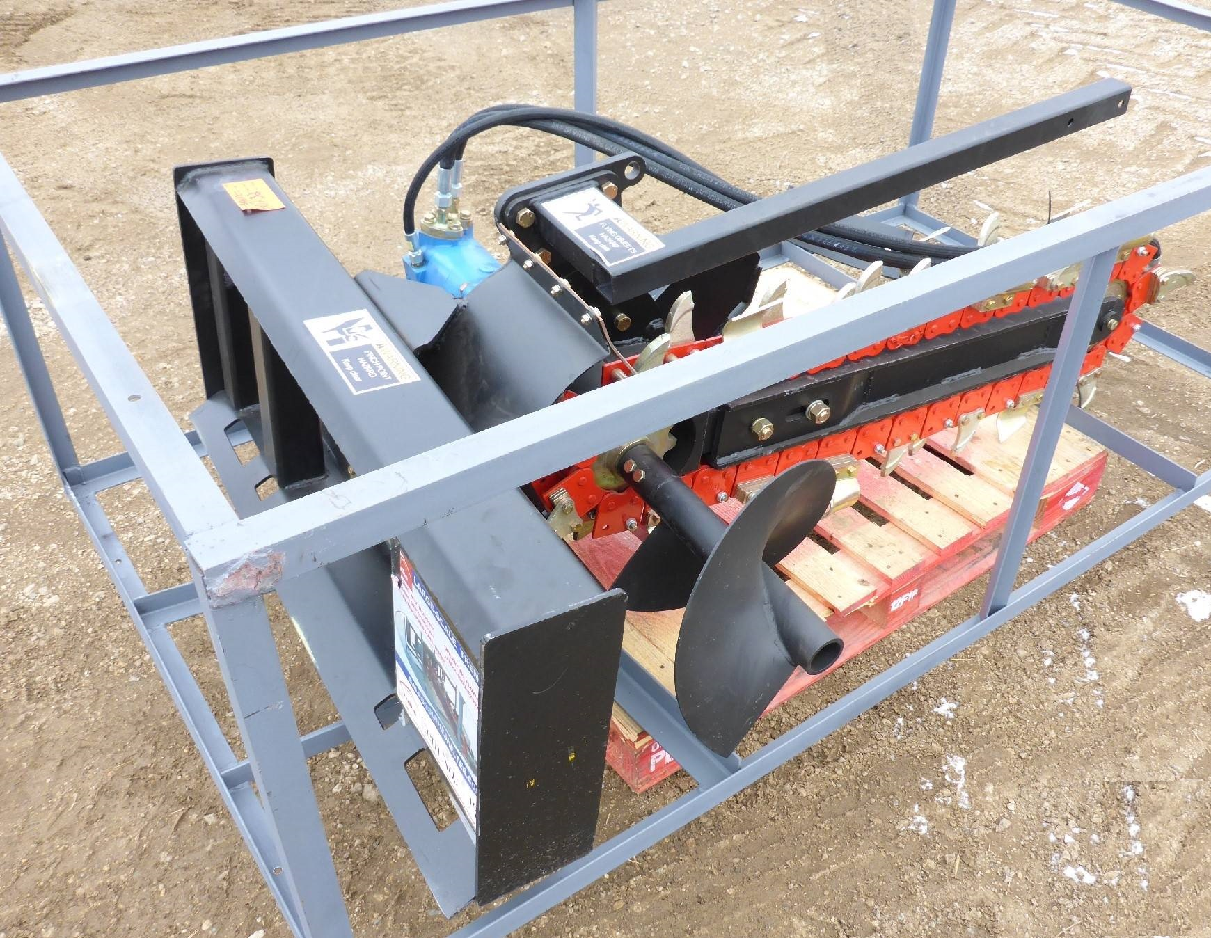 Skid Steer Trencher 48 Inch Attachment Trencher Uncle