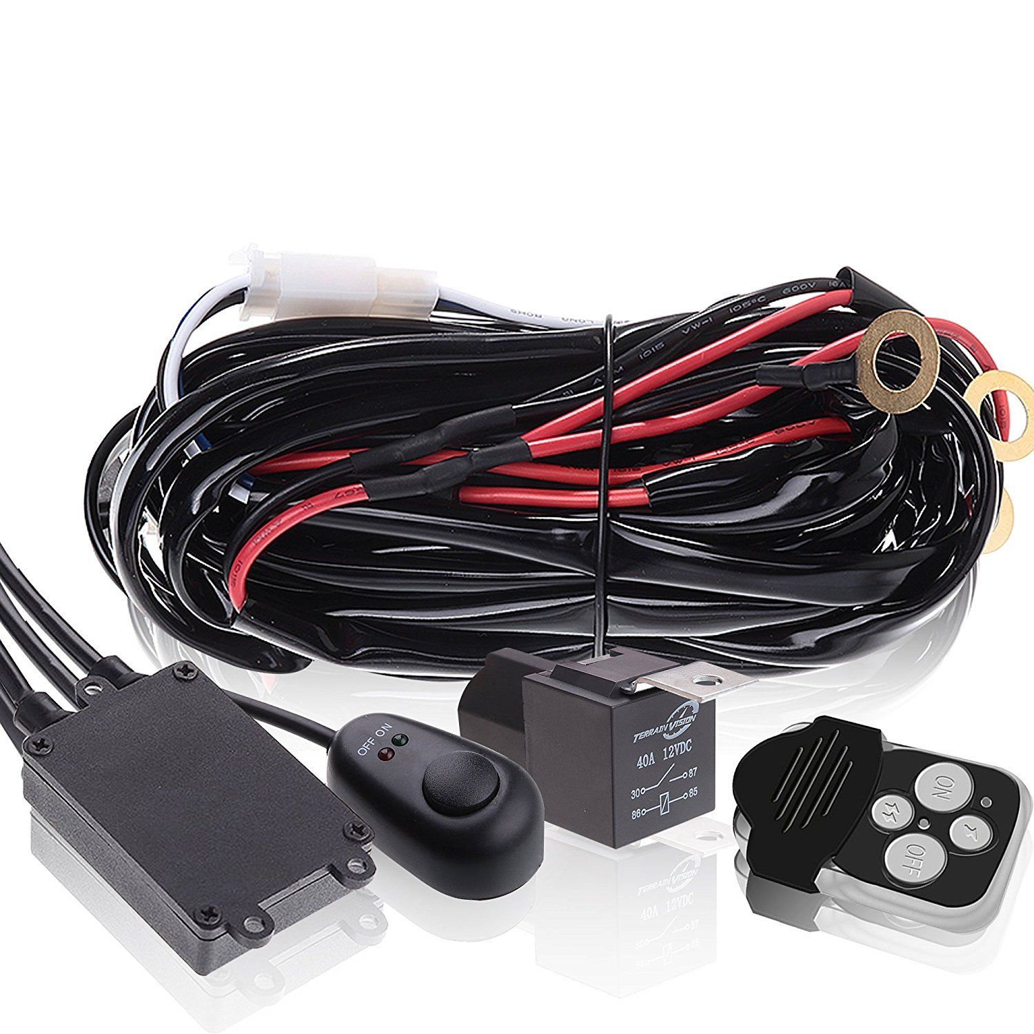 Led Light Bar Wiring Harness Double Wire Single Remote New Technology Controlled