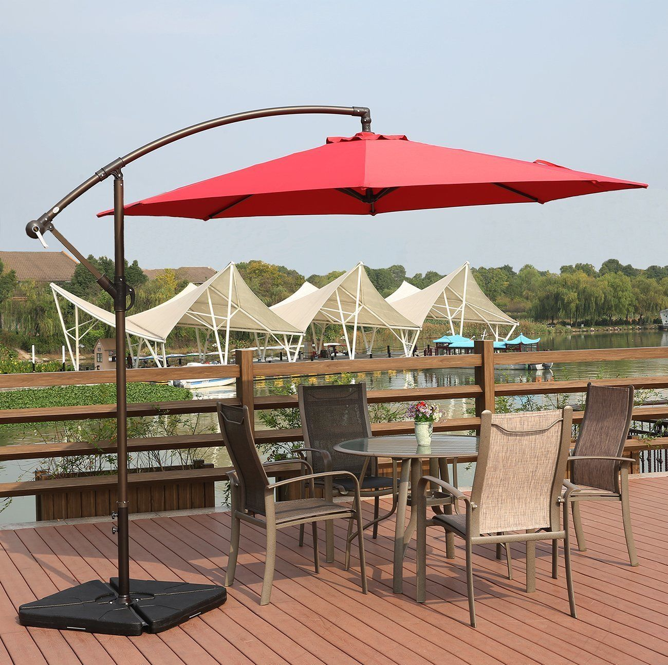 new 10 ft hanging umbrella hanging with base ! - uncle wiener's Base for 10 Ft Umbrella