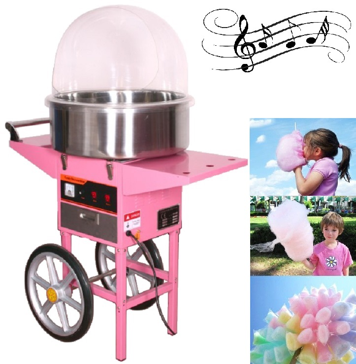 LUXURY CANDY FLOSS COTTON CANDY MACHINE W MUSIC AND COVER ...