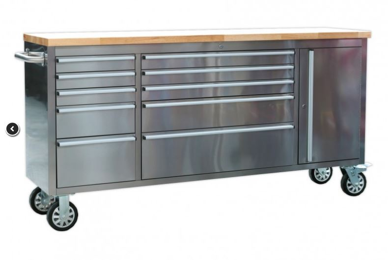 New 10 Drawer Stainless Steel Work Bench Htc7210w Uncle