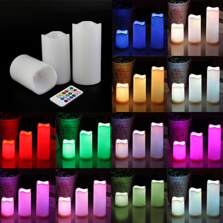 12 Color 3 Pcs Flame Less Led Candles 4 Quot 5 Quot Amp 6