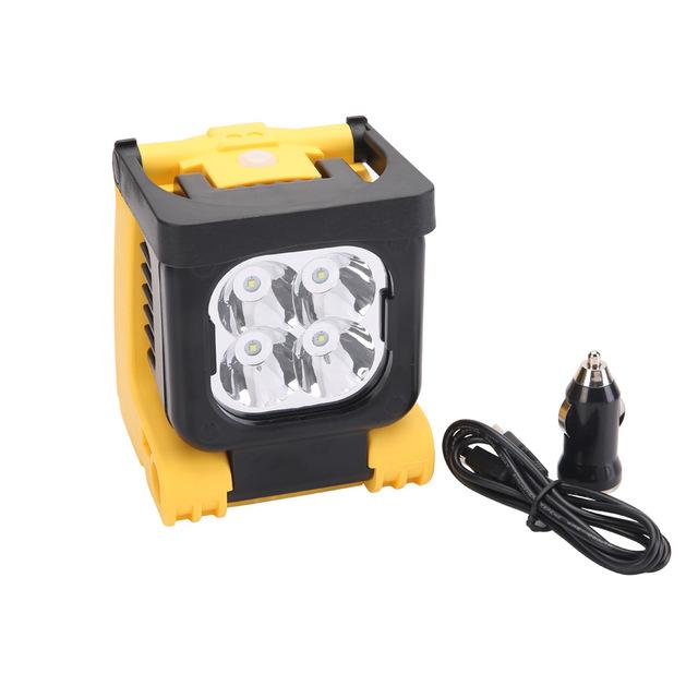 New Auto Work Light 110v 12 Volt Amp Battery Powered Led