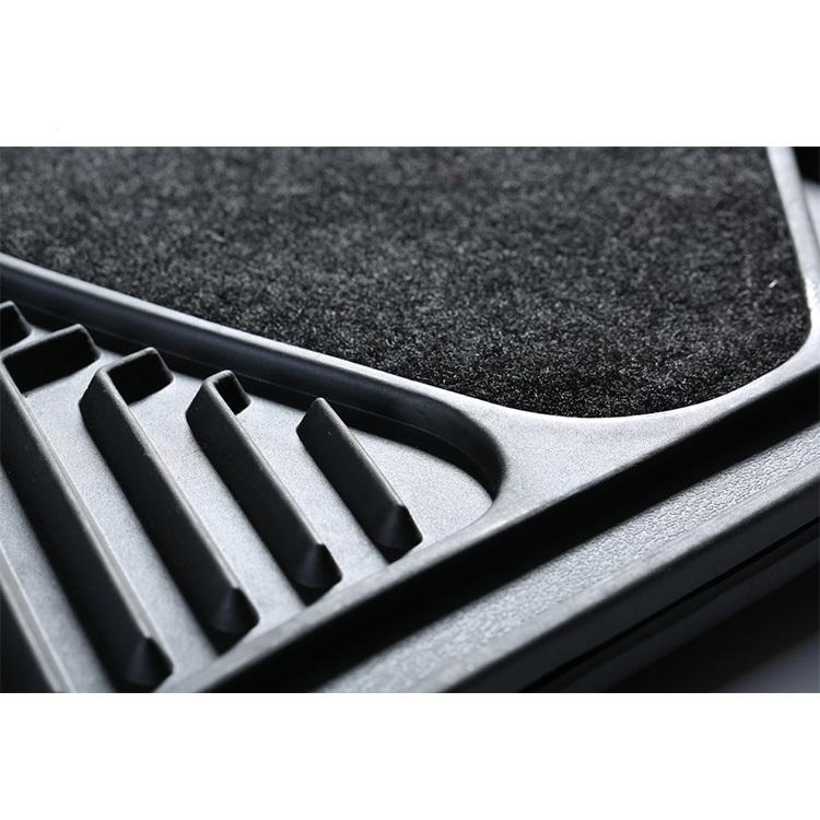 New 4 Pcs Rubber Mat Truck Floor Mats Universal Van Car