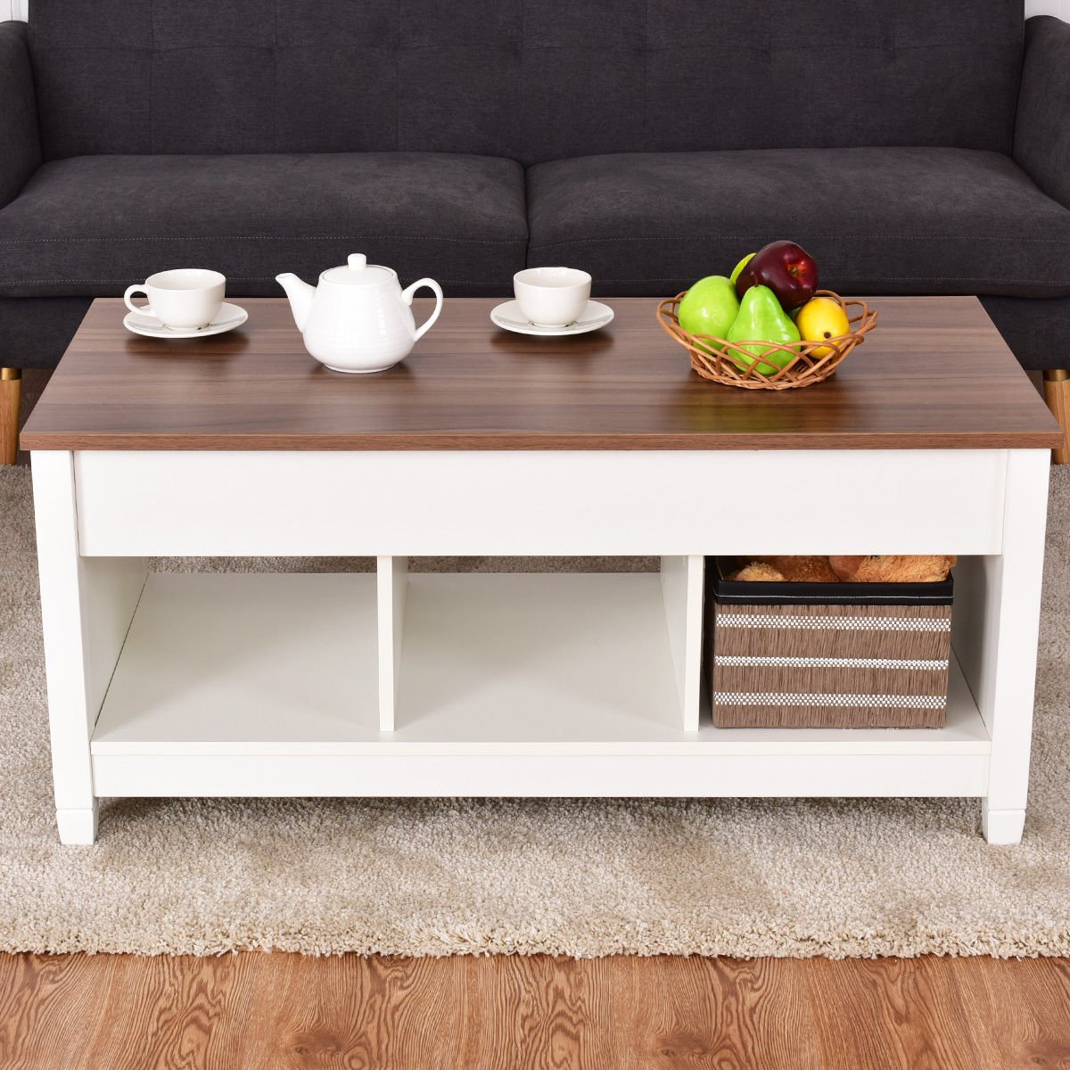 NEW MODERN COFFEE TABLE LIFT TOP END TABLE STORAGE
