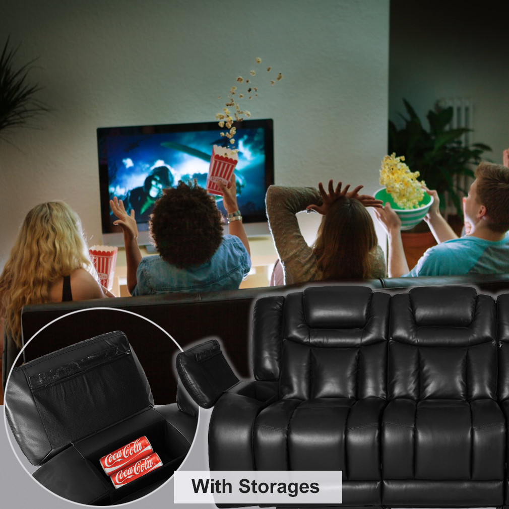 New Reclining Sofa Home Theater Seating Power Recliner