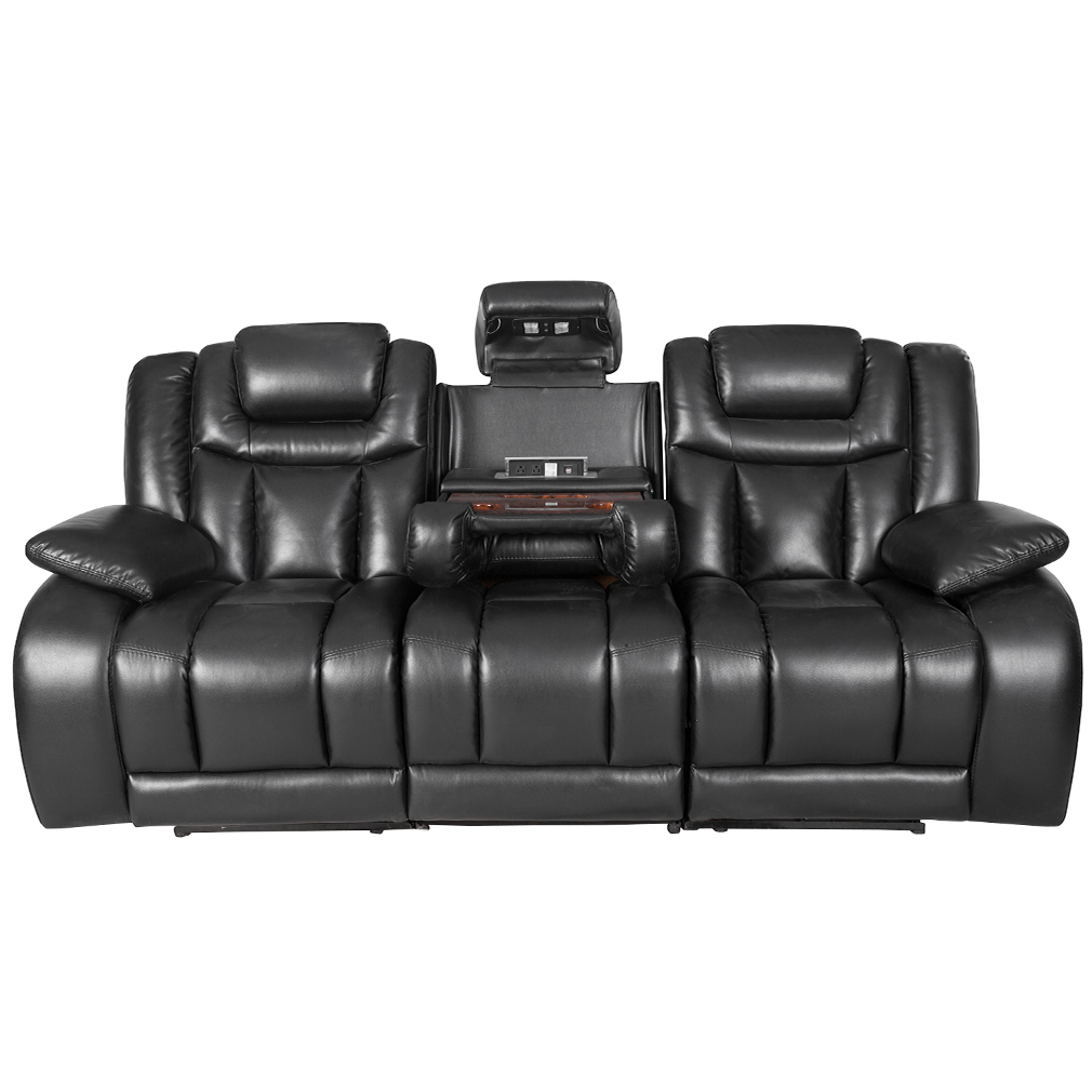 NEW RECLINING SOFA HOME THEATER SEATING POWER RECLINER ...