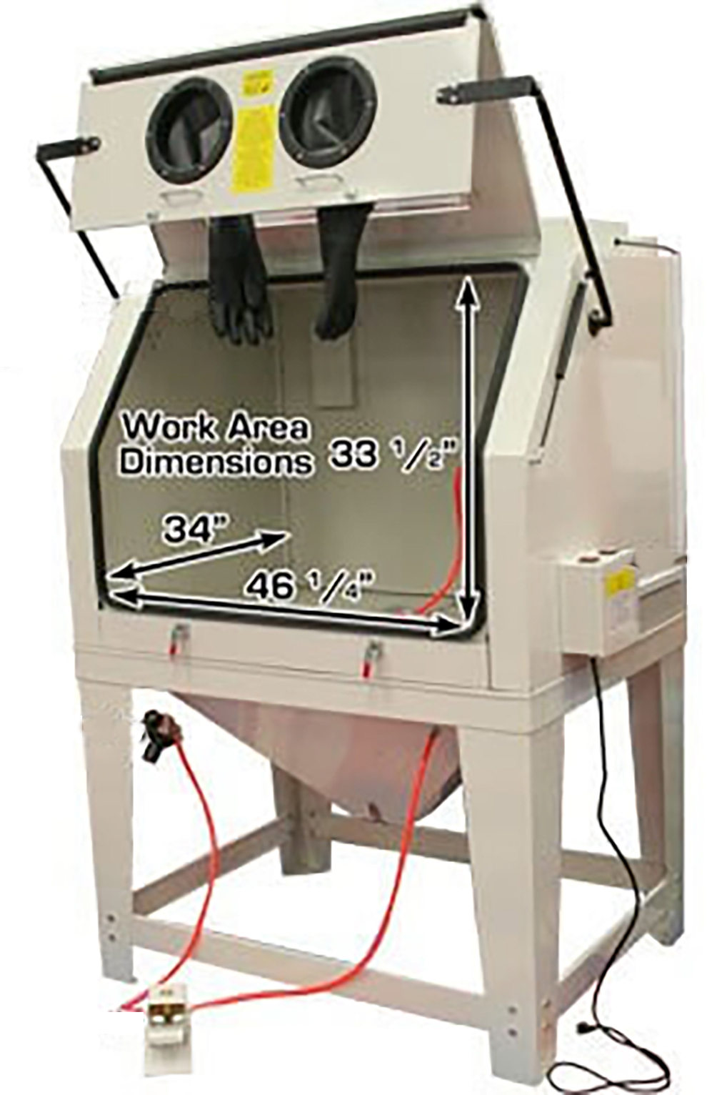 NEW ABRASIVE SAND BLASTING CABINET 990L W3015 - Uncle ...